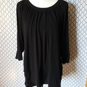Torrid Cold Shoulder 3/4 Sleeve Blouse SZ 2